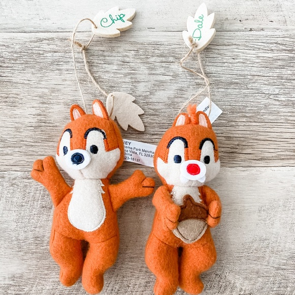 Disney Other - Chip and Dale Cloth Christmas Ornaments